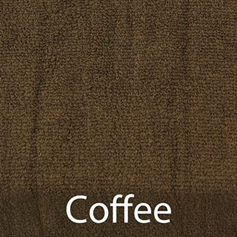 BambooMN Brand Super Soft 70% Rayon from Bamboo 30% Organic Cotton Bath Towel, 535 GSM - 4pc - Coffee by