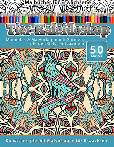 malbucher-fur-erwachsene-tier-kaleidoskop-mandalas-malvorlagen-mit-formen-die-den-geist-entspannen