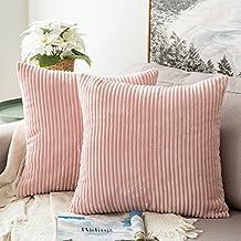 Amazon.es: cojines para sofa color rosa