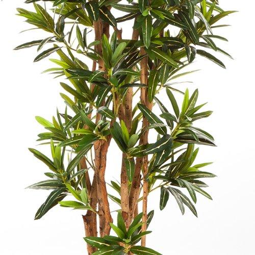 artplants – Künstlicher Longifolia Baum Mike, 1430 Blätter, 150 cm – Unechter Kunststoff Baum/Kunstbaum