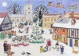 Alison Gardiner Adventskalender Nostalgisch Wandkalender: Englische Weihnachten auf dem Dorf.