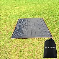 Extsud Wasserdichte Picknickdecke Stranddecke ultraleicht Campingdecke Mat mit Tragetasche und 4 Nägeln für Camping Picknick Outdoor Frühling Sommer 210*210 cm Sonnenzelt Markise Zelt Canopy Camping