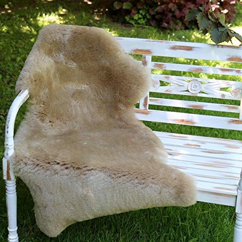 Peau de mouton Couleur Cappuccino courts ébarbé 90-100 cm
