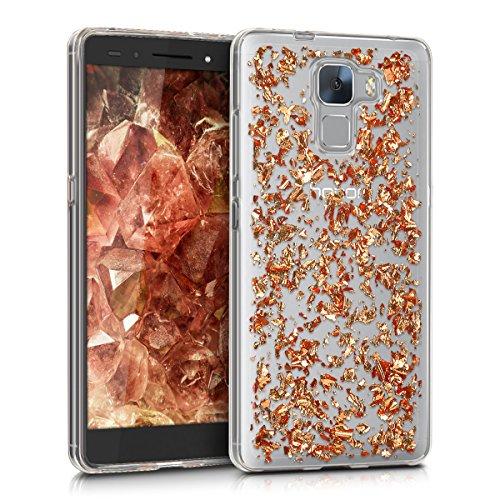 kwmobile Huawei Honor 7 / Honor 7 Premium Hülle - Handyhülle für Huawei Honor 7 / Honor 7 Premium - Handy Case in Rosegold Transparent