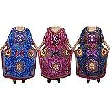 Boho Chic Ladies Kaftan 3pcs Lot Kimono Assorted Swimsuit Maxi Caftan Dress One Size
