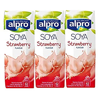 Alpro Soya Strawberry Flavoured Drink, 3x250ml (5 Pack)