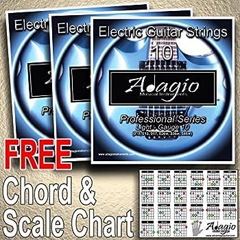 3 Packs Of Adagio Professional Electric Guitar Strings 10 46 Free