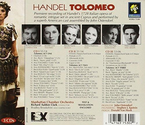 Georg Friedrich Händel : Tolomeo