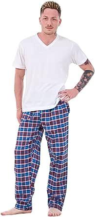 Bay eCom UK New Mens Pyjama Bottoms Rich Cotton Woven Check Lounge Pants Nightwear M to 5XL