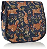 Signare Womens Tapestry Fashion Messenger Bag Satchel Bag in Forest Life Design