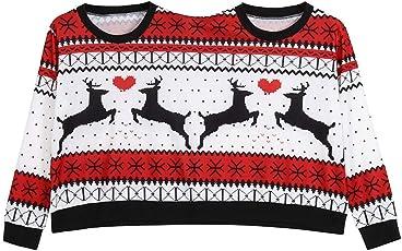 MIRRAY Herren Damen Sweatshirt Zwei Personen Pullover Unisex Paare Pullover Neuheit Weihnachten Bluse Top Shirt