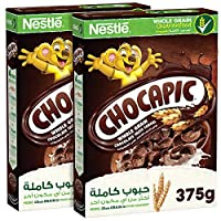 ‏‪Chocapic Nestle Chocolate Breakfast Cereal 375g (Pack of 2) – Promo Pack‬‏
