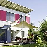 CelinaSun 0010535 Sonnensegel Sonnenschutz Garten | UV Schutz PES wasser-abweisend imprägniert | Dreieck 5 x 5 x 5 m creme-weiß - 4