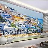 Sproud Custom 3D Photo Southeast Asia Seascape Room Architectural Complex Design 3D Wallpaper 3D Mural Mediterranean Style 3Dwall Paper 400Cmx280Cm