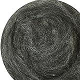 Filzwolle 100% Wolle zum Filzen Trockenfilzen Nassfilzen - Grau Schwarz Kohle (Mix) 50 g