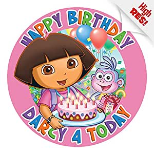 Dora The Explorer Cake Topper 75 Inch PERSONALISED Edible on