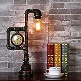 BINGCreativo, industriale, classico, vintage, Loft tubo arrugginito design lampada da tavolo LED per la decorazione, coffee shop, soggiorno