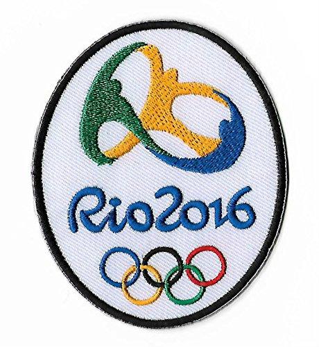 Jeux Olympiques de Rio 2016Patch (9cm) brodée fer à repasser ou à coudre badge Applique souvenir DIY Costume Olympique Anneaux Logo