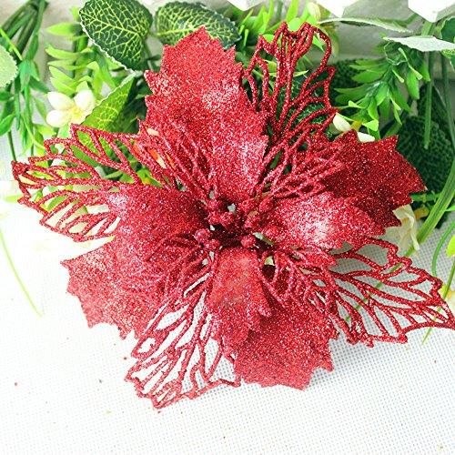 Hohe QualitäT-Kunstblumen Weihnachtsbaum Dekoration Romantisch Rosette HäNgende Charm Party Verzierungs BlumensträUßE KüNstliche Blume Deko FüR Hochzeit Seidenblumenstrauß -