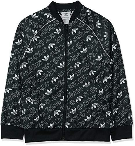 adidas Jungen Trefoil Monogram SST Jacke,schwarz / weiß,164