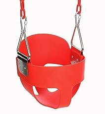 Keepgar Schaukel Kinderschaukel Babyschaukel mit 1.5m Edelstahlkette für Kinder (Rot)
