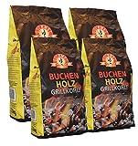 10kg Buchenholzkohle - Marken-Holzkohle aus Buchenholz - Grillkohle aus 100% Buche - ideal für den Tischgrill, Lotus- oder Cobb-Grill - extra raucharm