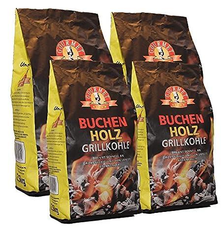 10kg Buchenholzkohle - Marken-Holzkohle aus Buchenholz - Grillkohle aus 100%