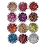 Eye care 12 Color Thick Shimmer Glitter For Beauty Queen