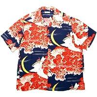 Sun Surf Vintage Hawaiian Shirt ss33330Hawaiian Falcon e Aloha Luna Maglietta