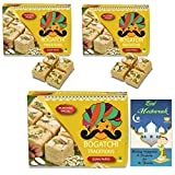 #8: BOGATCHI Eid Mubarak Combo Gift Pack, Premium Eid Special Gift, Sweets for Eid, Traditional Soan Papdi 3 x 250g + FREE Eid Mubarak Greeting Card