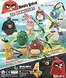 MVS AL POR MAYOR Paquete de 10 colgantes Angry Birds 3d (50 mm) Ideal para llenado de bolsas para fiestas/premio de llenado o piñata