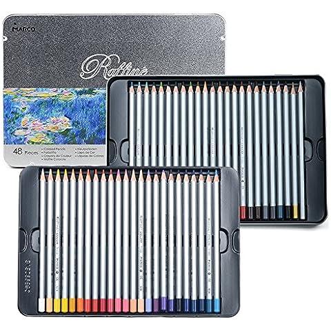 newdoer 48arte dibujo lápices de colores Set, en lata de metal, el mejor regalo de Navidad.