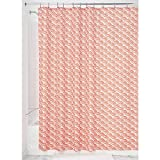 InterDesign Lyssa Duschvorhang | Badewannenvorhang mit kunstvollem Muschelmotiv | 183,0 cm x 183,0 cm großer Duschvorhang| Polyester orange