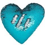 Ataya Sirena Throw Pillow con inserto, 2 colores en forma de corazón reversible decorativos ...