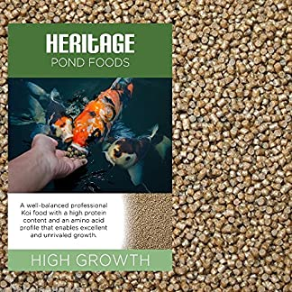 HERITAGE HIGH GROWTH PREMIUM KOI FISH FOOD PELLETS GARDEN POND FEED HIGH PROTEIN GROWER (1kg) 7