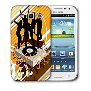 Snoogg Black Rock Band Designer Protective Back Case Cover For Samsung Galaxy Win i8552