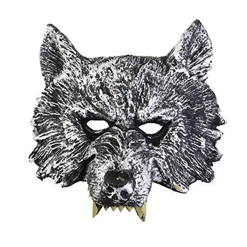 Nacht Wolf Kostüm - luoem Grey Wolf head mask für Cosplay/Halloween/Masquerade Kostüm, Halloween