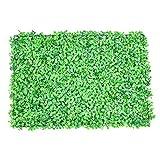 LianLe künstliche Buchsbaum-Hecke Kunstpflanze 63,5cm L x 38,1cm B Pflanzen-Platten Innen-/Außen-Wanddekor L: Light green