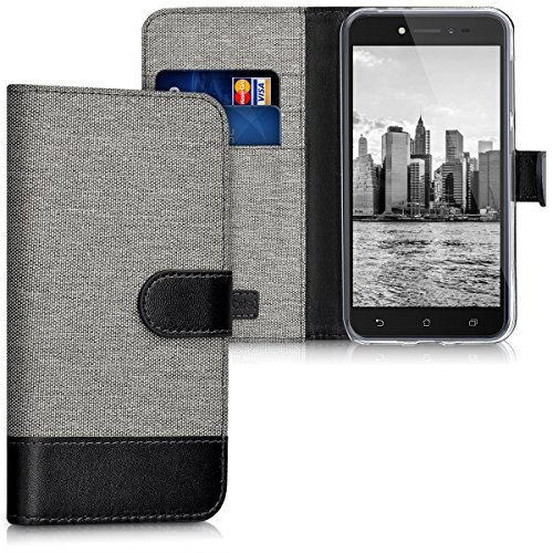 kwmobile Asus ZenFone Live (ZB501KL) Hülle - Kunstleder Wallet Case für Asus ZenFone Live (ZB501KL) mit Kartenfächern & Stand