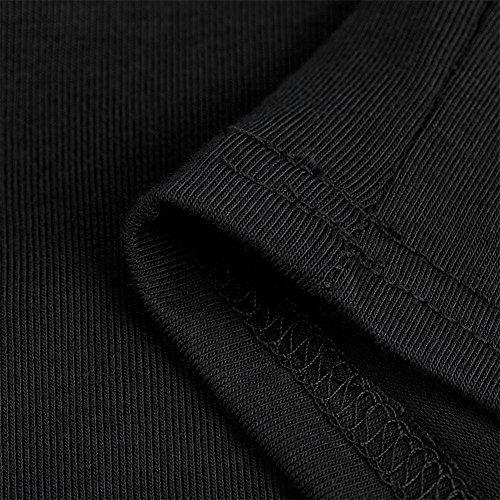 Holeider Tops Damen Sommer Sexy Strappy Schnürung Ärmelloses Halterneck T-Shirt Schwarz