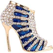 Flyonce Broches Finas Mujer Zapato de tacón para Regalo Boda Fiesta