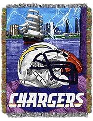 Northwest San Diego chargeurs NFL Couvre-lit tissée style tapisserie Motif Home Champ avantage 48 x 60 cm