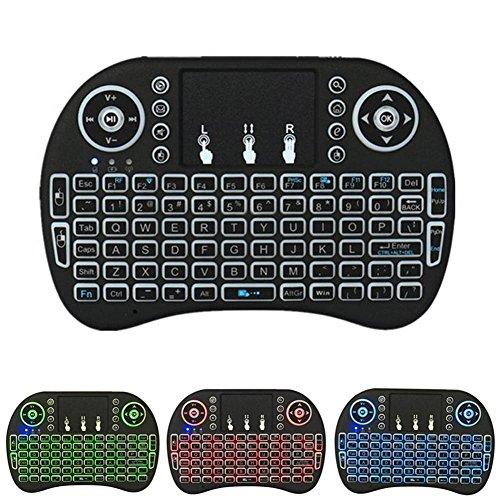 Espeedy Mini Backlit Wireless Keyboard BK8 mit Touchpad Multimedia Keys Keyset für PC Pad Android / Google TV Box HTPC IPTV PS3