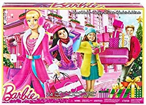 Barbie Toy Fashion Doll Advent Calendar - 24 Surprise Items - Dresses Clothes Shoes Purses Jewellery