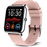 """Donerton Smart Watch, Fitness Tracker for Women, 1.4"""" TFT LCD Screen Smartwatch with Heart Rate and Sleep Monitor, IP67 Water"""