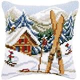 Vervaco 0021868Coussin point de croix. Gloire d'hiver