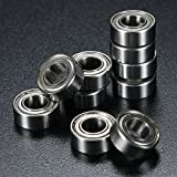 Chenxi Shop 10 pièces 5 x 10 x 4 mm Metal Sealed Shielded Deep Groove Roulement à billes Mr105zz