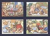 Teddy Bär Familien Postkarten