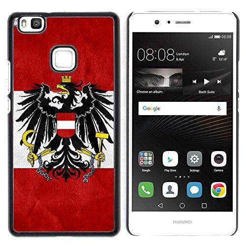 Graphic4You Österreich Österreichisch Flagge Harte Dünn Hülle Tasche Schale Schutzhülle für Huawei P9 Lite