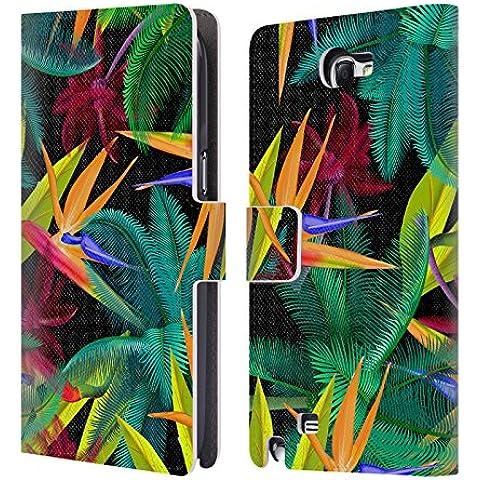 Ufficiale Mark Ashkenazi Uccello Del Paradiso Pattern Cover a portafoglio in pelle per Samsung Galaxy Note 2 II N7100